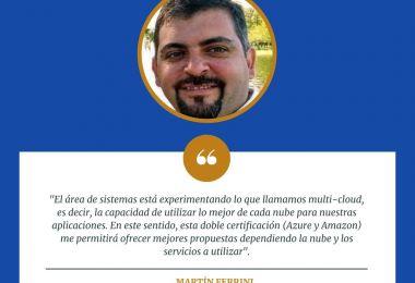 El docente Martín Ferrini obtuvo las certificaciones de Azure y Amazon