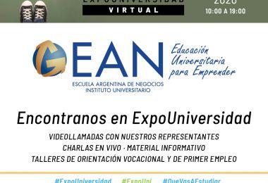 Encontrá a EAN en Expouniversidad 2020