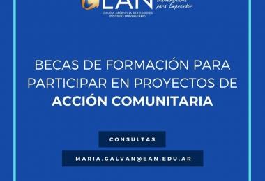 Becas de formación y económicas para participar en proyectos de acción comunitaria