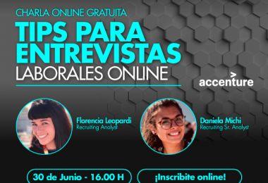 """Bienvenida Accenture al ciclo """"Charlas con Especialistas"""""""