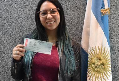 Entrega de la beca Santander Río a alumnos de EAN que participan de los proyectos de acción comunitaria