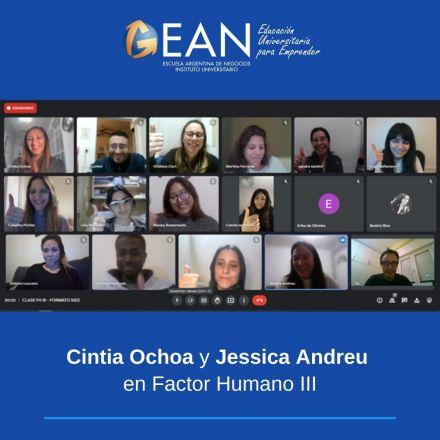 Cintia Ochoa y Jessica Andreu en Factor Humano III.jpg