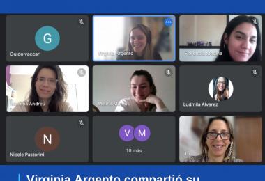 Virginia Argento compartió su experiencia profesional con los alumnos de EAN