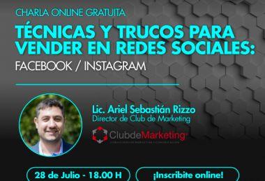 Técnicas y trucos para vender en redes sociales: Facebook/Instagram