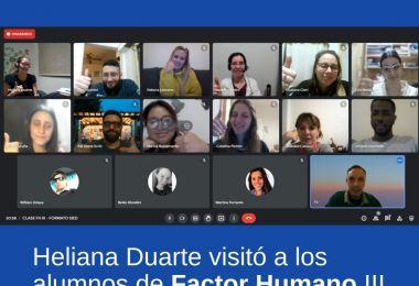 Heliana Duarte visitó a los alumnos de Factor Humano III